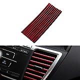10 PCS Aire Acondicionador Aire Accesorios Auto Colorido Aire Outlet Decoration Strip (Color Name : Red)