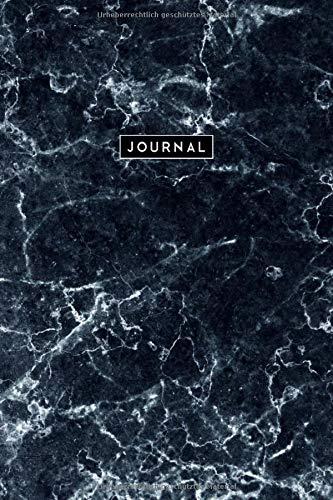 Journal Marmor Blau Grau: Notizbuch Punktraster (Dotted) I Blaues Marmordesign I Tagebuch I Composition Notebook I A5 I 160 Seiten
