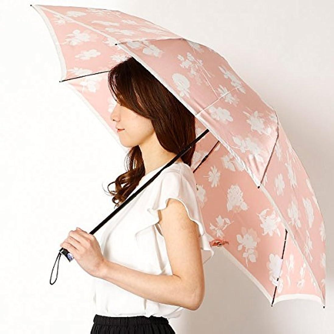 完璧罪悪感一晩ミラ?ショーン(雑貨)(mila schon) 雨傘(折りたたみ/3段/ミニ傘)【大寸/大きいサイズ/軽量】花柄/影花(婦人/レディース)