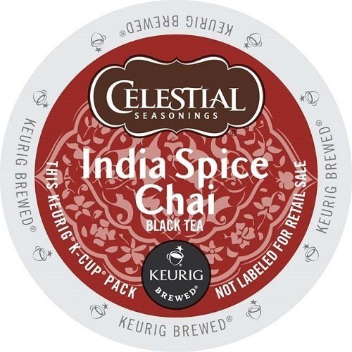 Celestial Seasonings India Spice Chai Tea, Single Serve Tea K-Cups, 48-Count For Brewers