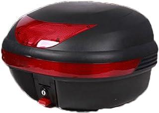 【ハウス】バイク リアボックス トップケース バイクボックス 大容量 40L 着脱可能式 フルフェイス収納可能 ヘルメット入れ オートバイ パーツ 汎用 カギ付き トップケース スクーター 黒