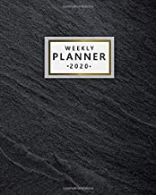 Weekly Planner 2020: Pretty Weekly & Daily 2020 Organizer, Schedule Agenda & Diary | Nifty Inspirational Quotes & Funny Holidays, To-Do's, Vision Boards & Notes | Elegant Dark Slate