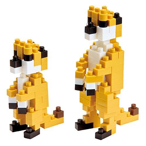 nanoblock 13997 - Meerkat Erdmännchen, 3D-Puzzle von Mini Collection, 140 Teile, Schwierigkeitsstufe 2, mittel