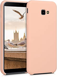 kwmobile Funda Compatible con Samsung Galaxy J4+ / J4 Plus DUOS - Carcasa de TPU para móvil - Cover Trasero en melocotón Claro