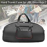 Estuche rígido de viaje para JBL Boombox 2 Portátil Bluetooth Protección impermeable para altavoces Bolsa de almacenamiento de transporte, Puede acomodar el enchufe del cargador Cable USB, etc.(Negro)