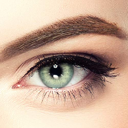 LUXDELUX PREMIUM natürliche Kontaktlinsen für dunkle Augen aus Silikon-Hydrogel D3191 Mojito Mint grün (Lime Green)