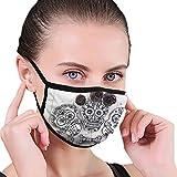 Mund-Masken-selbst gemachte Schädel-Plätzchen-Süßholz-Blumen-Halloween-Gesichts-Mund-Maske...