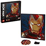 LEGO 31199 Art Marvel Vengadores Iron Man Póster de Coleccionista Decoración de Pared DIY Set de Construcción para Adultos