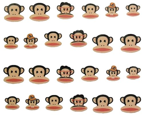 CM Nail Art manucure Stickers Ongles décalcomanie Scrapbooking: singes rigolos