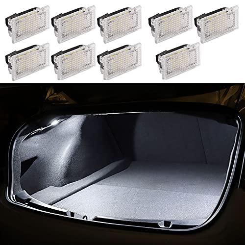 Luz para Interior de Vehículos para Tesla Modelo 3 / Modelo S/Modelo X, Juego de bombillas de luces LED interiores ultrabrillantes, Luces de Maletero, Domo, Frunk, Charco de Puerta (Blanco)