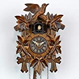 Haus der 1000 Uhren Kuckucksuhr - Vogelmotiv - Mit Batterie/Quarzuhr - Handgefertigt - aus Echtholz - 2 Jahre Garantie - Original aus dem Schwarzwald