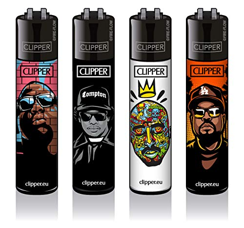 sunmondo Clipper® Feuerzeuge - Hip-Hop Legends 4er Set