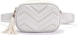 Stylish Quilted Waist Fringe Fanny Packs Belt Cross body Shoulder Bag Purse For Travel