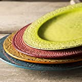 Foodesign Colors of Italy Mixed Color Ceramic 11 Inch Dinner Plate, Set of 4