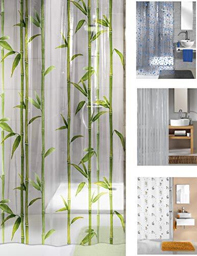 Unbekannt KW Duschvorhang, PEVA, wasserfest Bambus