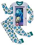 Disney Pijama para niños con motivo de Monstruos, S.A., 2 piezas, Pijama de algodón suave para niños con personajes Sully, Boo y Mike, regalos para niños adolescentes de 2 a 14 años