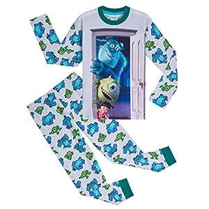 Disney Pijama para niños con motivo de Monstruos, S.A., 2 piezas, Pijama de algodón suave para niños con personajes…