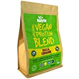 BodyMe Organic Vegan Protein Powder Blend | Raw Cinnamon | 1kg | UNSWEETENED with 3 Plant Proteins by BodyMe