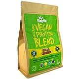 BodyMe Mezcla de Proteina Vegana Organica en Polvo | Cruda Maca Canela | 1kg | Sin Edulcorante | Baja Carb | Sin Gluten | 3 Proteinas Veganas | 20g Proteina Vegetal Completa | Aminoacidos Esenciales