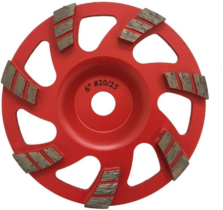 """6/"""" DIAMOND CUP WHEEL ARBOR FITS HILTI DG150 Concrete Grinding 30//40 Grit"""