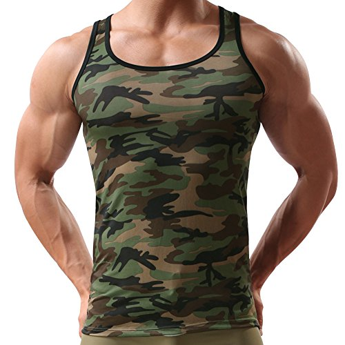 Andy's Share Herren Mann Vest Tops Tank Trainingswest Camouflage Military Sport Outdoor (EU L/Asian XL)