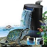 YueYueZou Aquarium Turtle Filter, Low Level Waterfall Filter for Small Fish Tank Shrimp Tank Amphibian Frog Crab