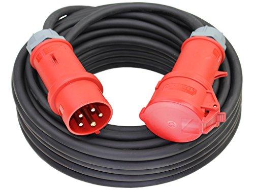 CEE Starkstromkabel 400V 16A 5x2,5mm² H07RN-F mit MENNEKES Stecker und Kupplung -5m-
