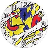 Tick Tok Wanduhr Torn Club America Logo Runde Uhr Silent Home Dekorative Wanduhr Arabische Ziffern Indoor Home/Büro/Schule Uhr 9,8 Zoll