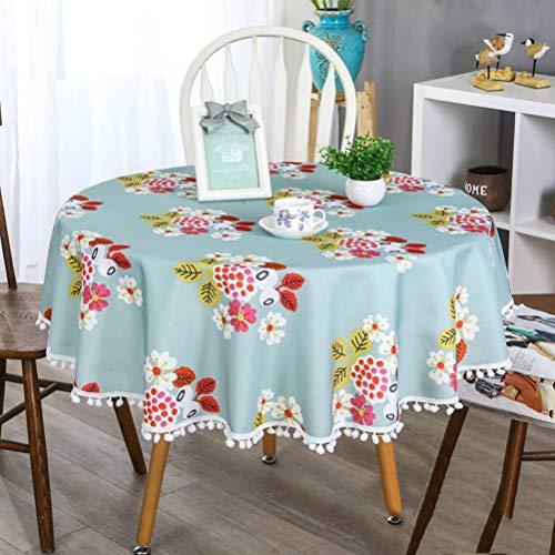 WHDJ Manteles Impermeables (Redondos y rectangulares), Mantel Antiarrugas para Comedor, Cocina, Mesa de Centro Que no se Quema ni se decolora