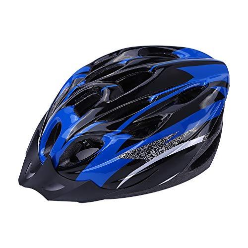 FAMKIT Casco de bicicleta de adulto ajustable con 18 agujeros para bicicleta de montaña al aire libre ciclismo azul