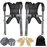 WELLUCK Furniture Moving Straps, Adjustable,Comfortable,Effortless Shoulder Lifting Straps for Moving Furniture,Appliance,Mattress,Fridge,Piano,TV, Reduce Pain 2 Person Lifting and Moving System