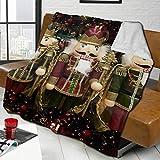 zblin Christmas Nutcracker Trio Boutique Blankets Soft Comfortable Plush Microfiber Flannel Blanket 60x50inch