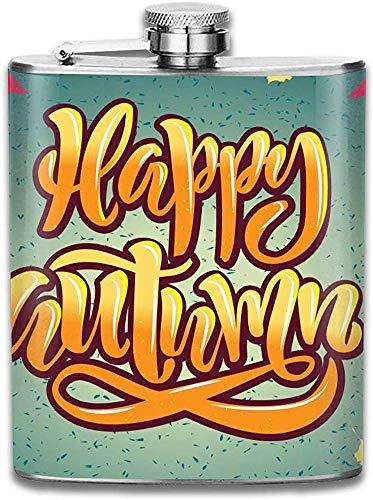 Botella de vino modificada para requisitos particulares del acero inoxidable del otoño feliz, regalo personalizado del frasco