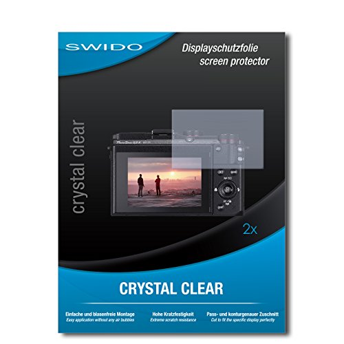 SWIDO Schutzfolie für Canon Powershot G3 X [2 Stück] Kristall-Klar, Hoher Festigkeitgrad, Schutz vor Öl, Staub & Kratzer/Glasfolie, Bildschirmschutz, Bildschirmschutzfolie, Panzerglas-Folie