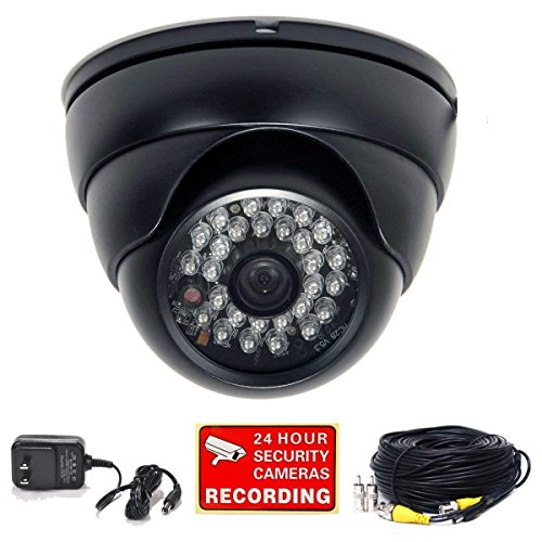 VideoSecu Video Audio Bullet Security Camera Built-in 1/3