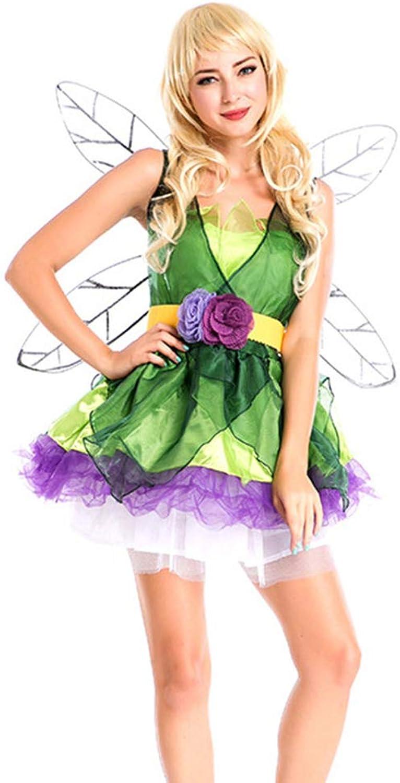 GIFT ZHIZHUXIA Frauen Mädchen Foreset Grüne Elf Flower Fairy Princess Costume With Wing Adult Weihnachtsfeier Kleid Requisiten (Farbe   Photo Farbe, größe   One Größe) B07P7ZCLS3 Reparieren  | Haben Wir Lob Von Kunden Gewonnen