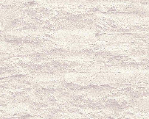 Schöner Wohnen 959083 Vliestapete Best of Wood`n Stone 2nd Edition Tapete, Mustertapete in Felsenoptik, creme, weiß, 10,05 m x 0,53 m