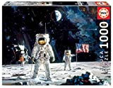 Educa Borras - Genuine Puzzles, Puzzle 1.000 piezas, First man on the moon, Robert McCall (18459)