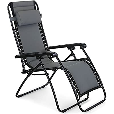 ➤ Cheap 'VonHaus Premium Padded Zero Gravity Chair Heavy