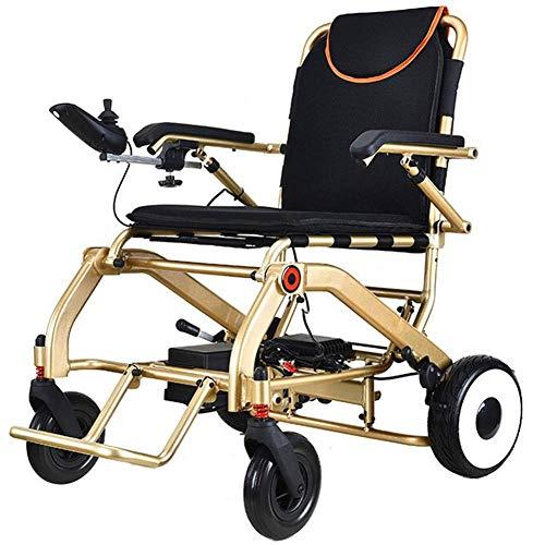 YLJYJ Leichter Rollstuhl, elektrischer Rollstuhl Open Quick Folding, elektrische Elektrorollstühle Langlebige, sichere und leicht zu fahrende Rollstühle, Alu in Flugzeugqualität
