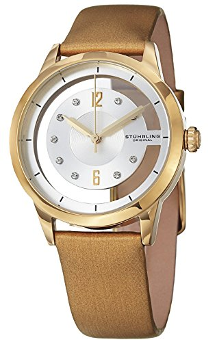 Stuhrling Original Winchester 946L Women's Quartz Watch with White Dial Analogue Display and Beige...