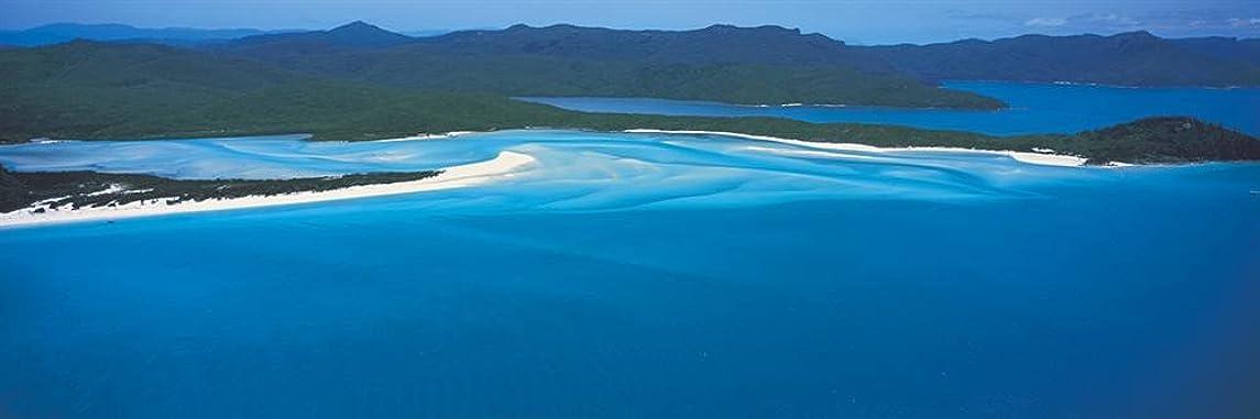 ラリーところでアルコール壁360ピール&スティック壁壁画:ホワイトHavenビーチGreat Barrier Reef 72 in x 24 in ブルー 65981_180