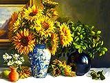 Girasol bordado de diamantes flor 5D DIY Kit de manualidades decoración del hogar bordado a mano pintura de diamantes A5 45x60cm