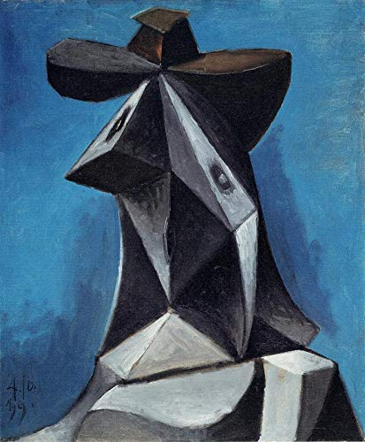 Head of a woman 04 10 1939 Picasso - Film Filmplakat - Beste Print Kunstdruck Qualität Wanddekoration Geschenk - A1 Poster (33/24 inch) - (84/59 cm) - GLÄNZEND dickes Fotopapier