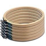 Onepine 6 Stücke Stickrahmen Kreuzstich Stickrahmen Holz aus Bambus