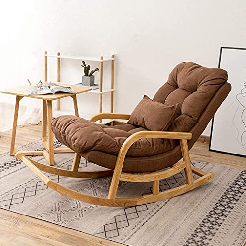 RSTJ Silla mecedora reclinable reclinable silla de cubierta dormitorio dormitorio sala de estar silla de lectura balcón patio cuarto dormitorio jardín silla relajante silla sillón silla embarazada muj