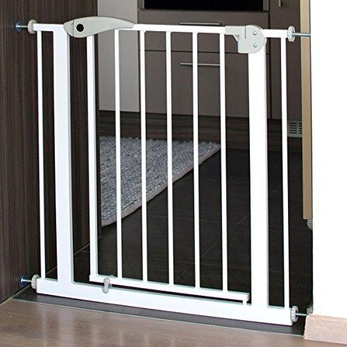 Türschutzgitter/Treppenschutzgitter 75-85 cm (Auto-Close + Auto-Lock) ohne Bohren für Baby Kind