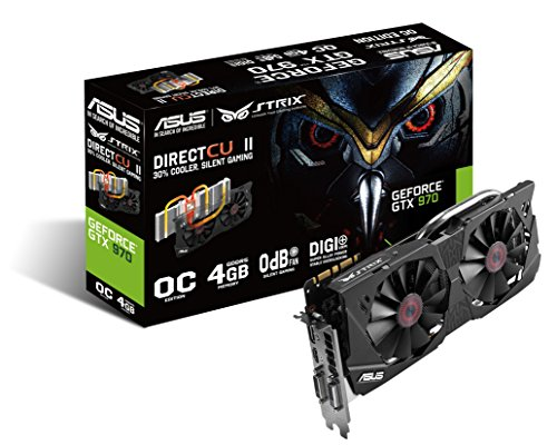 ASUS GeForce STRIX-GTX970-DC2OC-4GD5 - Tarjeta gráfica (4 GB GDDR5, PCI...