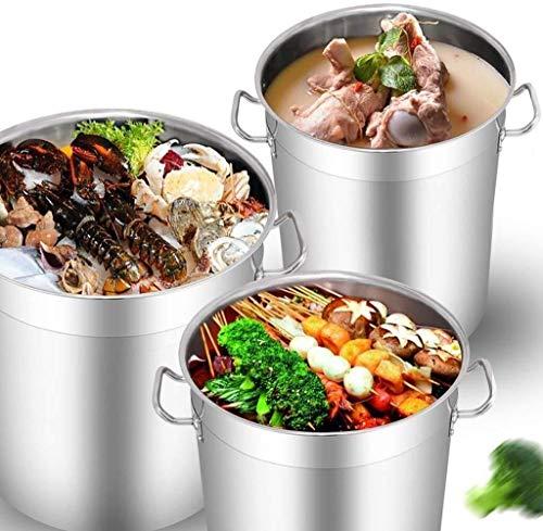 Pot Pot Bespaar tijd Lower Kitchen Temperatuur, grote diepe RVS Inductie Stock braadpan Stockpot Soep pan
