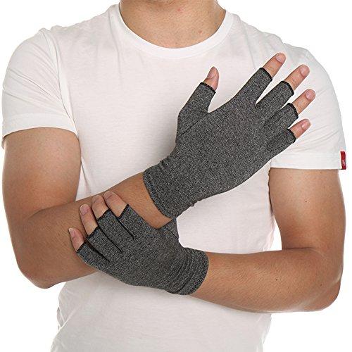 Guantes antiartritis (par), alivia el dolor de reumatoide, túnel carpiano, guantes de compresión, sin dedos para mecanismo, trabajo diario, manos y articulaciones, alivio del dolor